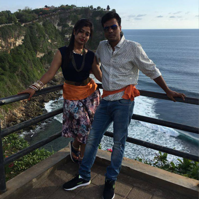 Mr Mayank Goyal & his wife celebrated during their recent Bali trip