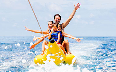 Enjoy Water sports and other frolic activities on second day